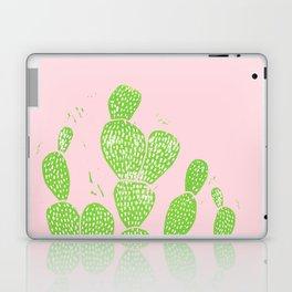 Linocut Cactus #1 Minty Pinky Laptop & iPad Skin