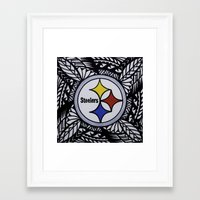 steelers Framed Art Prints featuring Steelers Poly Style by Lonica Photography & Poly Designs