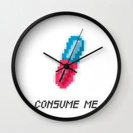 Consume Me Wall Clock