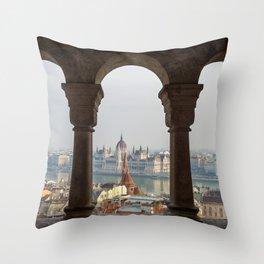 Budapest Life. Throw Pillow