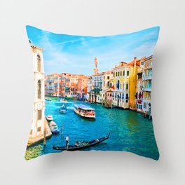 Italy. Venice lazy day Throw Pillow