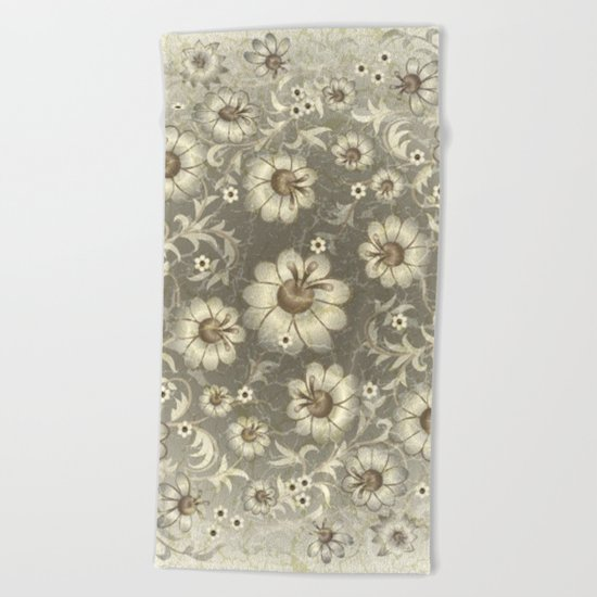 Shabby flowers #12 Beach Towel
