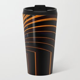 Unique Curved Wood Pattern Geometric Shape In A Vintage Mid-century Modern Style Travel Mug