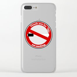 No Smoking Clear iPhone Case