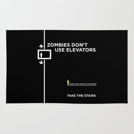 Zombies Don't Use Elevators Rug