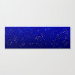 Golden Hands on Lapis Lazuli Canvas Print
