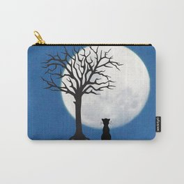 black cat and moon Carry-All Pouch