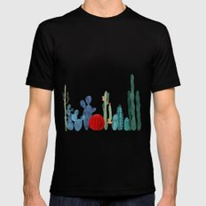 Cactus garden Black Mens Fitted Tee SMALL