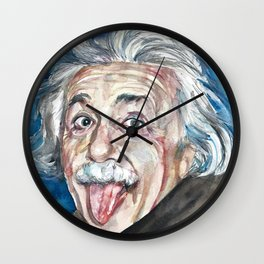 ALBERT EINSTEIN - watercolor portrait Wall Clock
