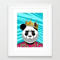big poppa Framed Art Prints featuring BIG POPPA by Liomal