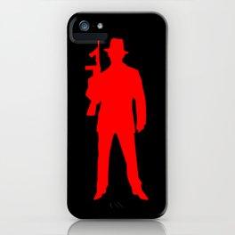 mafia silhouette iPhone Case