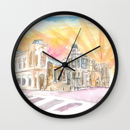 Rodeo Drive Scene Beverly Hills Los Angeles Wall Clock