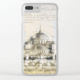 Blue Mosque, Istanbul Turkey Clear iPhone Case