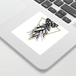 Pineapple Upside Down Geo #1 #tropical #fruit #decor #art #society6 Sticker