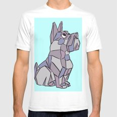 Cubist Pup MEDIUM White Mens Fitted Tee