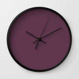 Eggplant Wall Clock
