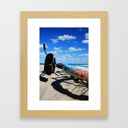 Beachin' Ride Framed Art Print