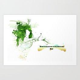 Women with design Art Print