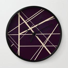 Crossroads - dot circle Wall Clock