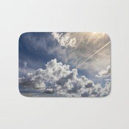 huge cumulus clouds Bath Mat
