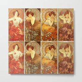"Alphonse Mucha ""The Precious Stones (series)"" Metal Print"