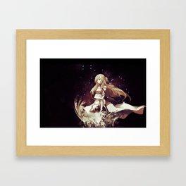 asuna digital Framed Art Print