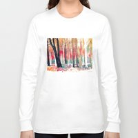 woods Long Sleeve T-shirts featuring Woods by takmaj