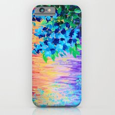 SHADES OF BEAUTIFUL - Stunning Bright BOLD Rainbow Ombre Pattern Blue Floral Hyacinth Nature Autumn iPhone 6s Slim Case
