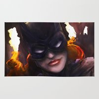 batgirl Area & Throw Rugs featuring Batgirl by Nicole M Ales