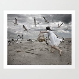 Taming the Sea Bird Art Print