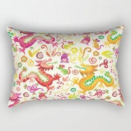 Scared dragons Rectangular Pillow
