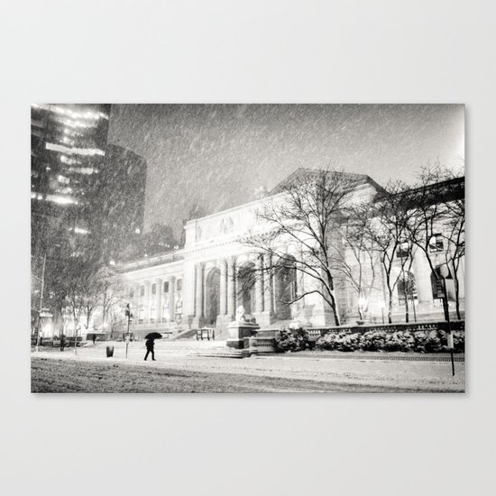 New York City Snow - 5th Avenue Canvas Print