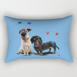 What's the Deely? (Colour) Rectangular Pillow