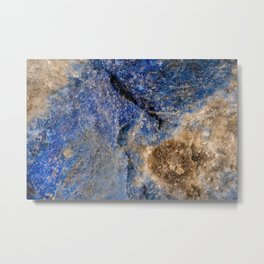 Lapis lazuli texture up close Metal Print