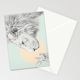 Lion and Bunny Stationery Cards