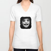 jack nicholson V-neck T-shirts featuring Jack Nicholson as The Joker - Pencil Sketch Style by ElvisTR