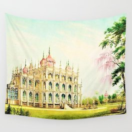 P.T. Barnum's 1848 lost palace of Iranistan in Bridgeport, Connecticut Wall Tapestry