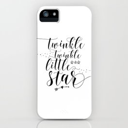 Star Cupcake Toppers, Twinkle Twinkle Little Star Cupcake Toppers, Cupcake Toppers, Baby Shower, Bir iPhone Case