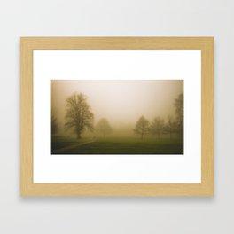Couple in the fog Framed Art Print
