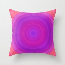 Orange & Purple Gradient Circles Throw Pillow