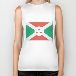 Flag of Burundi.  The slit in the paper with shadows. Biker Tank