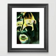 Kiss Gene Framed Art Print