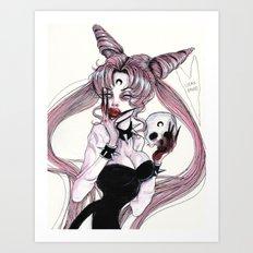 Black lady no,2 Art Print