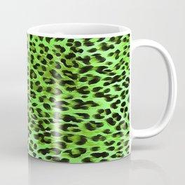 Green Tones Leopard Skin Camouflage Pattern Coffee Mug