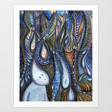 Dewdrop Meets the Rain Art Print