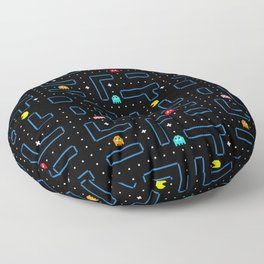 Pac-Man Retro Arcade Gaming Design Floor Pillow