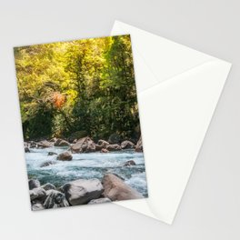 Beautiful Sun Light over Cleddan River, New Zealand Stationery Cards