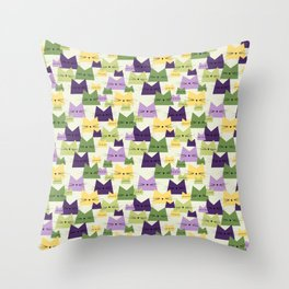 Nala Cat Pattern Lavender Throw Pillow