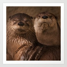 River Otters Art Print