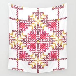 Lamp Kolam expanded  Wall Tapestry